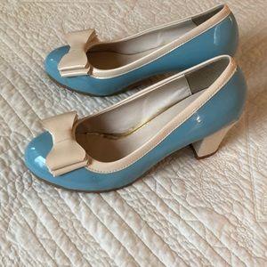 Sky blue heels